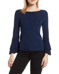 Anne Klein - Double Flare Sleeve Sweater - Lyst