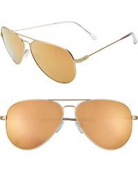 Electric - Av1 Xl 60mm Aviator Sunglasses - Light Gold/ Champagne Chrome - Lyst