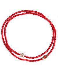 Luis Morais - Ruby And Gold Enamel Wrap Bracelet - Lyst