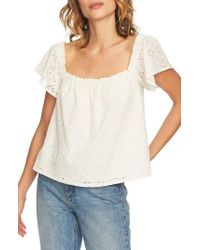 1.STATE - Embroidered Blouse - Lyst