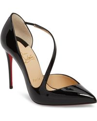 0e8921d725fa Lyst - Christian Louboutin Vampydoly Red Sole Leather Half-Bootie in ...