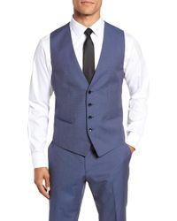 BOSS - Huge/genius Trim Fit Solid Three Piece Wool Suit - Lyst