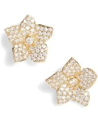 Kate Spade - Kate Spade Blooming Pave Stud Earrings - Lyst