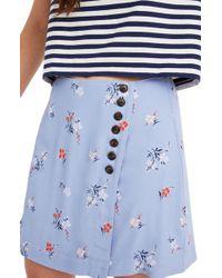 2e36f4fe7 Madewell - Floral Side Button Miniskirt - Lyst