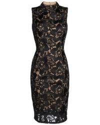 Adrianna Papell - Lace Sheath Dress - Lyst