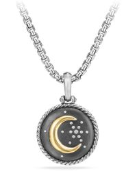 David Yurman - Cable Collectibles Moon And Star Amulet With Diamonds And 18k Gold - Lyst