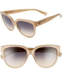Marc Jacobs - 56mm Rounded Cat Eye Sunglasses - Champagne - Lyst