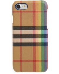 Burberry - Vintage Check Rainbow Iphone 8 Case - - Lyst