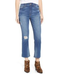 Tinsel - Ripped Crop Straight Leg Jeans - Lyst