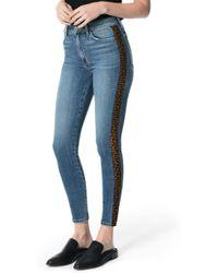 45ea6f247237 Joe's - Charlie Leopard Stripe High Waist Ankle Skinny Jeans - Lyst