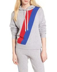 Juicy Couture - Stripe Cashmere Hoodie - Lyst