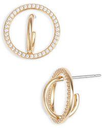 Nadri - Cubic Zirconia Hoop Earrings - Lyst