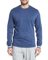 Polo Ralph Lauren - Brushed Jersey Cotton Blend Crewneck Sweatshirt - Lyst