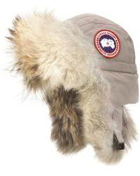 Canada Goose - Aviator Hat With Genuine Coyote Fur Trim - - Lyst