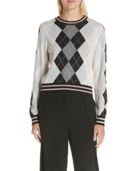 Rag & Bone - Dex Argyle Merino Wool Sweater - Lyst