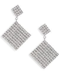 Leith - Crystal Tier Drop Earrings - Lyst