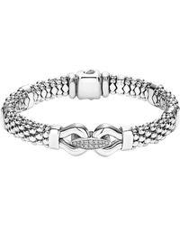 Lagos - 'derby' Diamond Buckle Rope Bracelet - Lyst