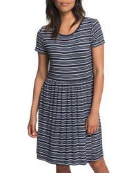 Roxy - Fame For Glory Stripe T-shirt Dress - Lyst