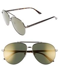 Gucci - Retro Web 61mm Aviator Sunglasses - Ruthenium W.mirror Gun Lens - Lyst