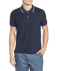 ATM - Tipped Pique Polo - Lyst