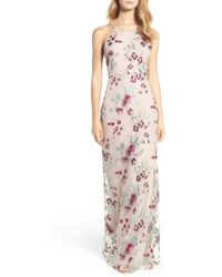 Jenny Yoo - Claire Floral Embroidered Gown - Lyst