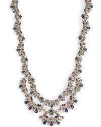 Marchesa - Crystal Collar Necklace - Lyst