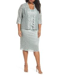 Alex Evenings - Lace Sheath Dress & Jacket - Lyst