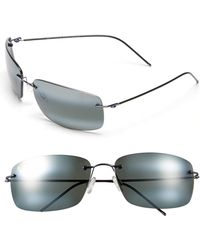 Maui Jim - 'frigate - Polarizedplus2' 65mm Polarized Sunglasses - Gunmetal Blue/ Neutral Grey - Lyst