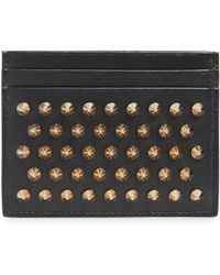 Christian Louboutin Kios Leather Card Case - Black