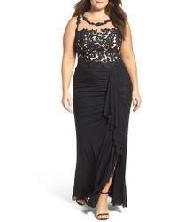 Decode 1.8 - Illusion Lace Gown - Lyst
