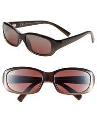 Maui Jim - Punchbowl 54mm Polarizedplus Sunglasses - Chocolate Fade - Lyst