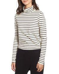 Stateside - Stripe Mock Neck Sweater - Lyst