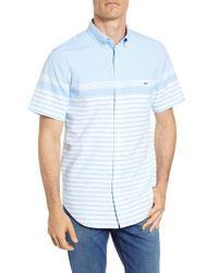 Vineyard Vines - Sea Mist Stretch Short Sleeve Sport Shirt - Lyst