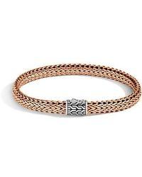 John Hardy - Classic Chain Medium Silver & Bronze Bracelet - Lyst