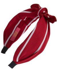 Cara - Stripe Knot Headband - Lyst