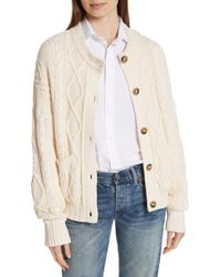 Polo Ralph Lauren - Boxy Cable Cardigan - Lyst