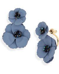 Serefina - Flower Front/back Earrings - Lyst