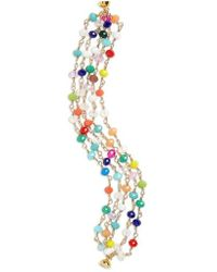 Panacea - Mutlicolored Crystal Multistrand Bracelet - Lyst