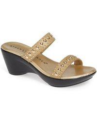 Athena Alexander - Beguine Stud Embellished Slide Sandal - Lyst