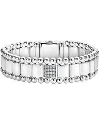 Lagos - Caviar Spark Pave Diamond Link Bracelet - Lyst