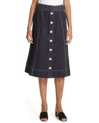 Joie - Mayaly Belted Cotton Skirt - Lyst
