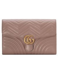 Gucci - Gg Marmont 2.0 Matelasse Leather Clutch - Lyst