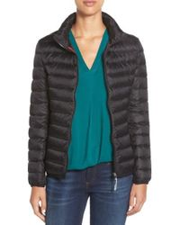 Tumi - 'pax On The Go' Packable Quilted Jacket, Black - Lyst