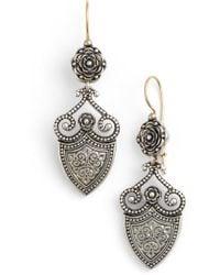 Konstantino - 'silver Classics' Shield Drop Earrings - Lyst