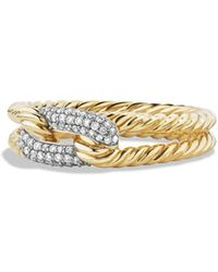 David Yurman - 'Pave' Loop Ring With Diamonds In 18k Gold - Lyst