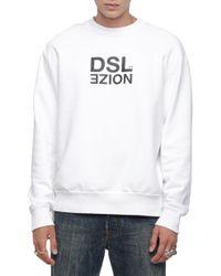 DIESEL - Logo Crew Neck Sweatshirt - Lyst