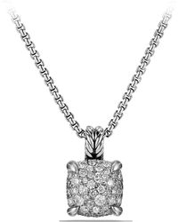 David Yurman Châtelaine® Pendant Necklace With Diamonds - Metallic