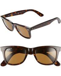Ray-Ban - Standard Classic Wayfarer 50mm Polarized Sunglasses - - Lyst