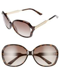Gucci - 60mm Open Temple Oval Sunglasses - - Lyst