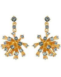 Oscar de la Renta - Crystal Dandelion Drop Earrings - Lyst